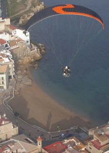Karen Skinner - flying above the Costa Brava