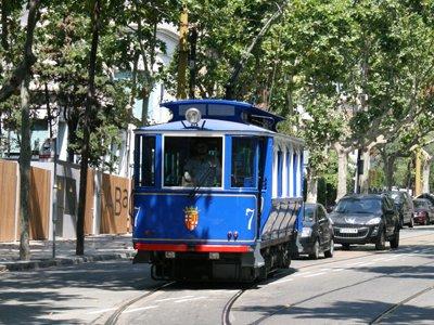 Blue tram to Tibidabo