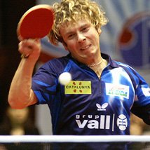 Andrew Baggaley, current English table tennis champion